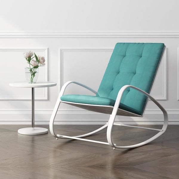 MWH Premium Quality Metal Rocking Chair with cushion man woman unisex home owner environmentally friendly stylish vintage elegant comfortable living room HDB Condo checkered blue Green White