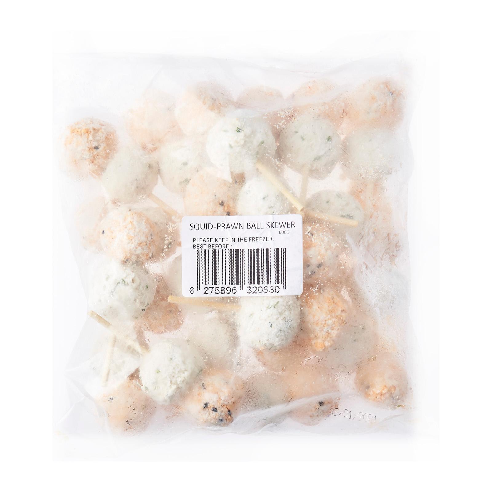 Yocorn Squid-prawn Ball Skewer - Frozen