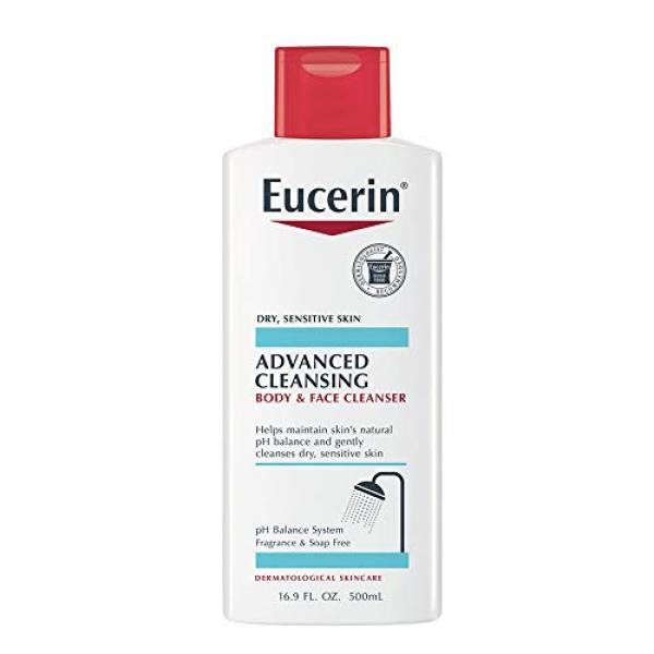 Buy (USA)Eucerin Advanced Cleansing Body & Face Cleanser - Fragrance & Soap Free for Dry, Sensitive Skin - 16.9 fl. oz Bottle Singapore