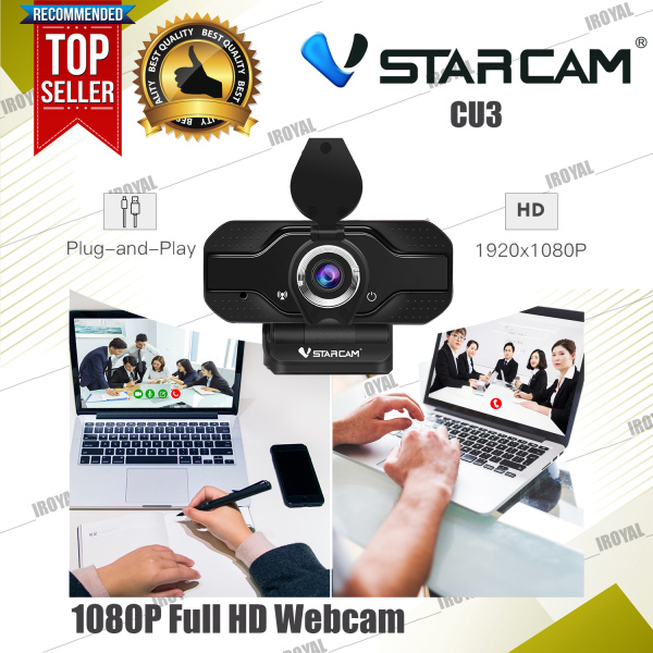 VStarcam CU3 FULL HD 1080P Webcam Auto Focus USB Web Camera for PC laptop with Microphone