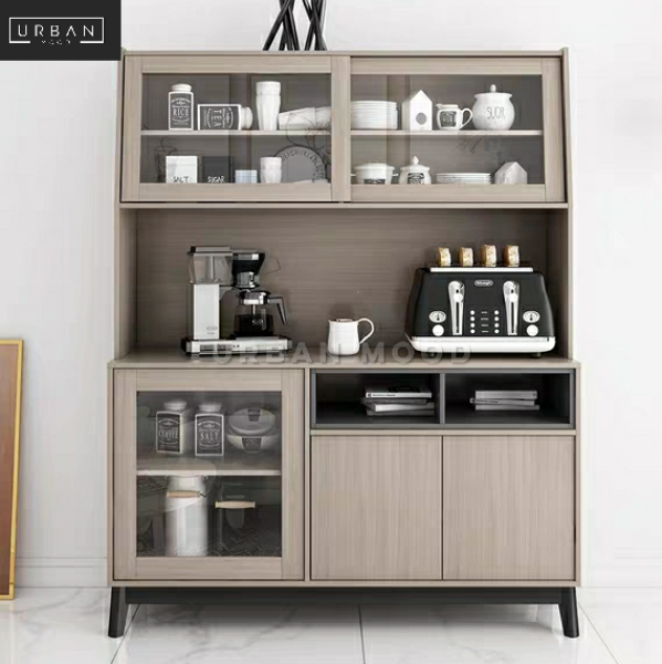[Pre-Order] KITSCH Rustic Ash Grey Kitchen Cabinet
