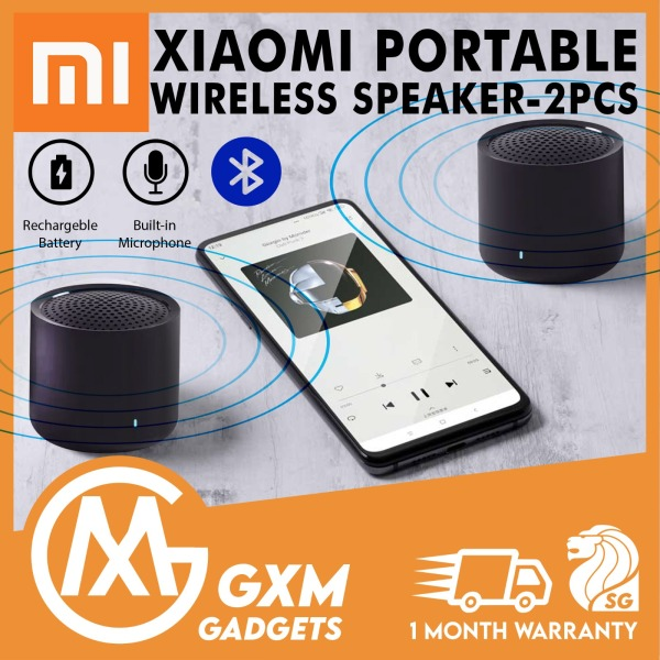Xiaomi 2Pcs Bluetooth Speaker Portable Speaker Bluetooth 5.0 2pcs Mini 2.0 True Wireless Bass Stereo Sound Mic Speaker Singapore