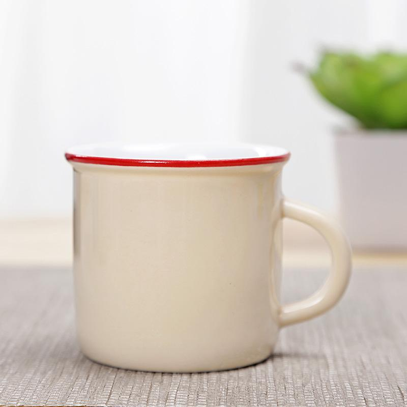 df8f9c15f7d Ceramic Small Teacup with Handle Teacup Cup Master Cup Nostalgic Vintage  Kung Fu Tea Set Mini Imitation Enamel Cup
