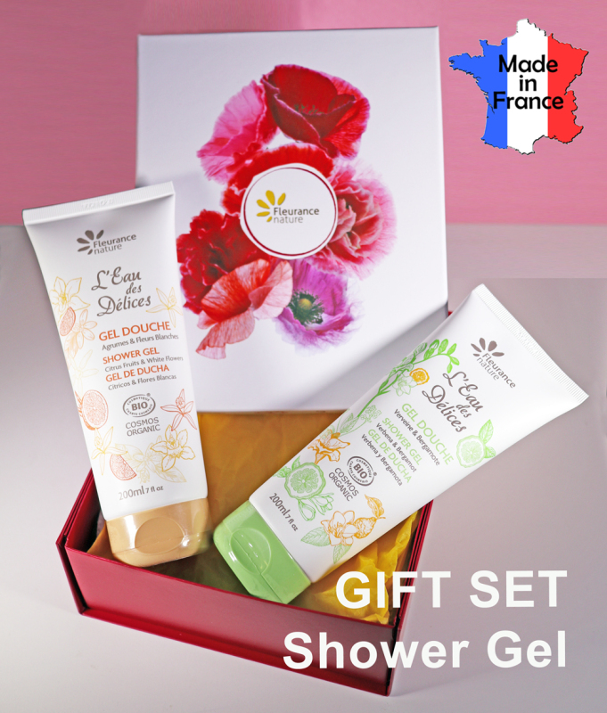 Buy Shower Gel Gift Set - Made in France - Organic - by FLEURANCE NATURE Singapore