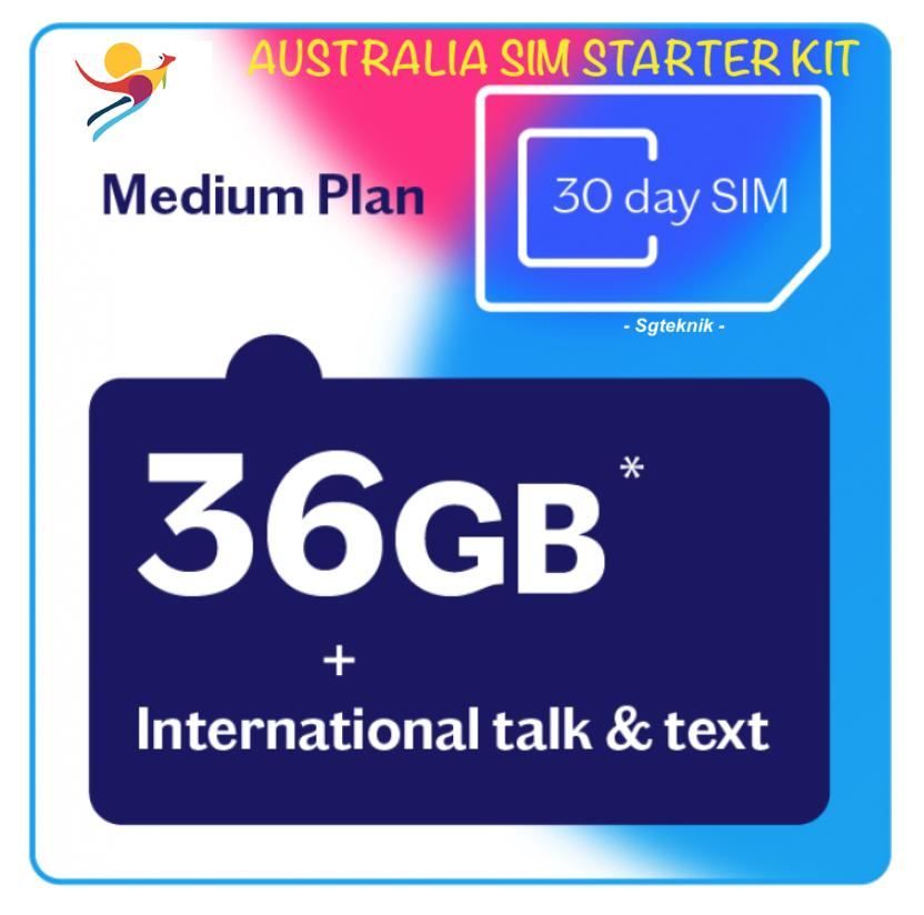 36gb Australia Prepaid Sim Card 30days Vodafone Lebara Mobile Data 4g 3g Starter Oz By Sgteknik