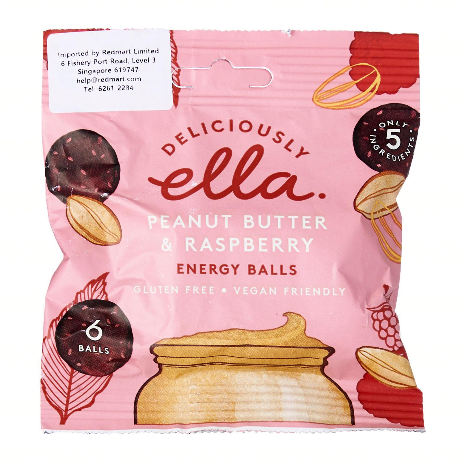 Deliciously Ella Peanut Butter And Raspberry Energy Balls