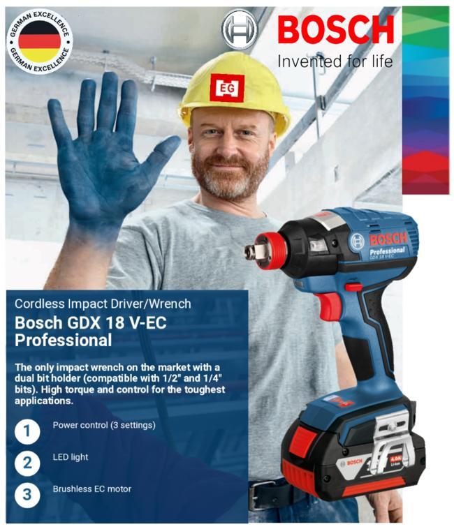 Bosch GDX 18V EC