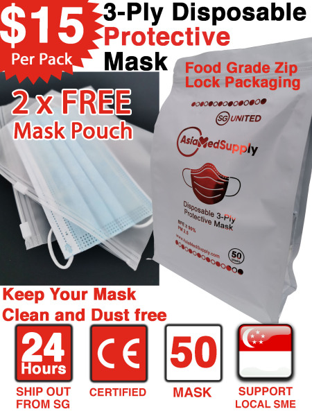 Buy Disposable Protective Face Mask Singapore