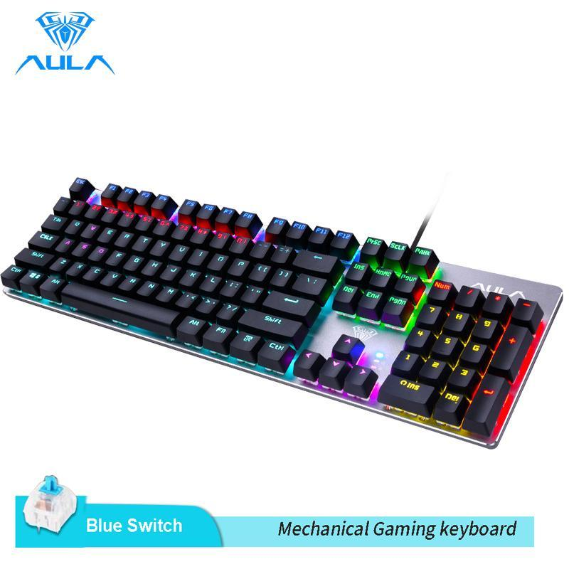 AULA  F2068 Mechanical Gaming Keyboard Multicolor Backlit for PC Laptop Gaming Singapore