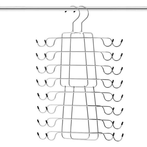 Tank Tops Hanger Metal Folding Space Saving Hanger Closet Organizer for Tank Tops, Cami, Bras, Bathing Suits, Belts, Ties(2 Pack)