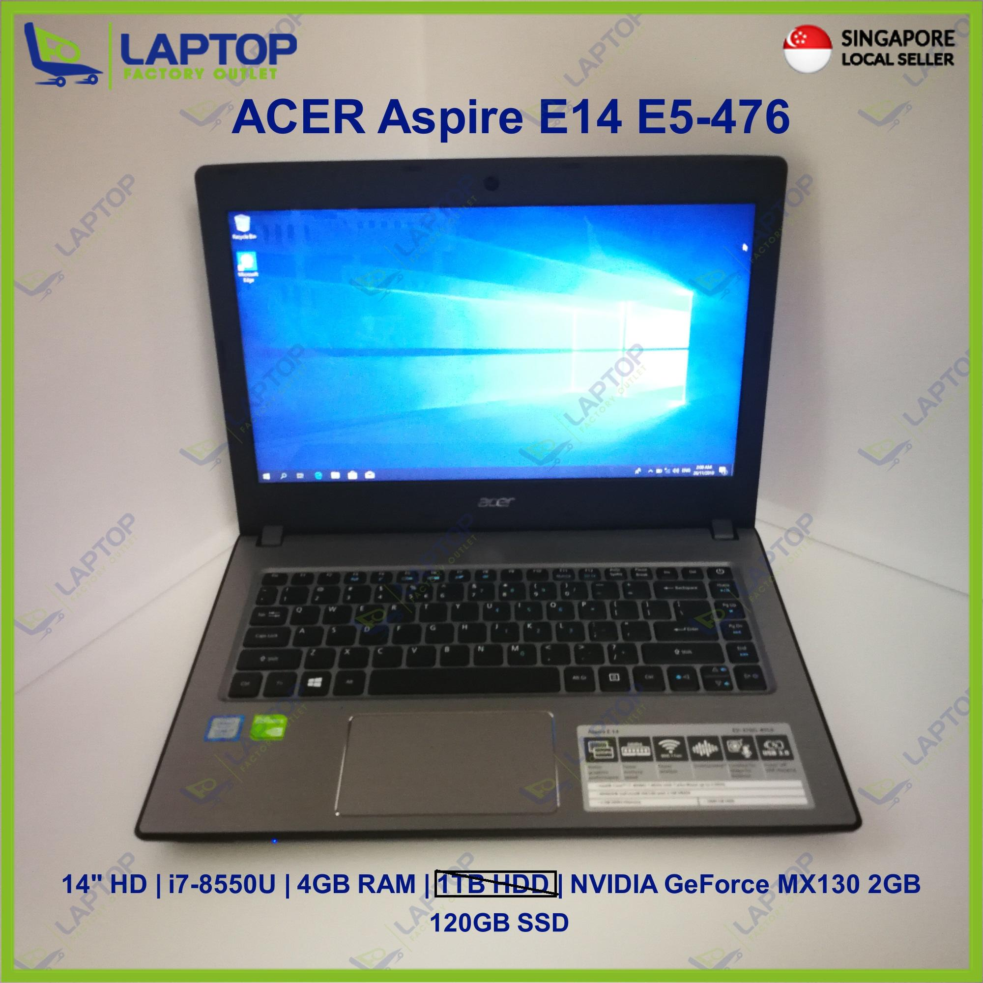 ACER Aspire E14 E5-476 (i7-8/4GB/120GB) [Premium Preowned] Refurbished