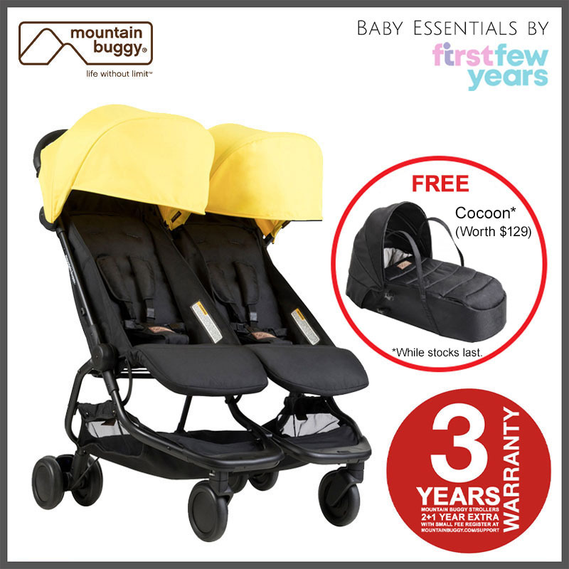 Mountain Buggy Nano Duo Stroller from Authorized Retailer (5 Colors) Singapore
