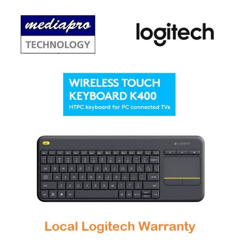 Logitech K400 Plus Black TV Plus Unifying Keyboard with Android Keys and Integrated Touchpad, TV-Connected PC - Local Logitech Warranty Singapore