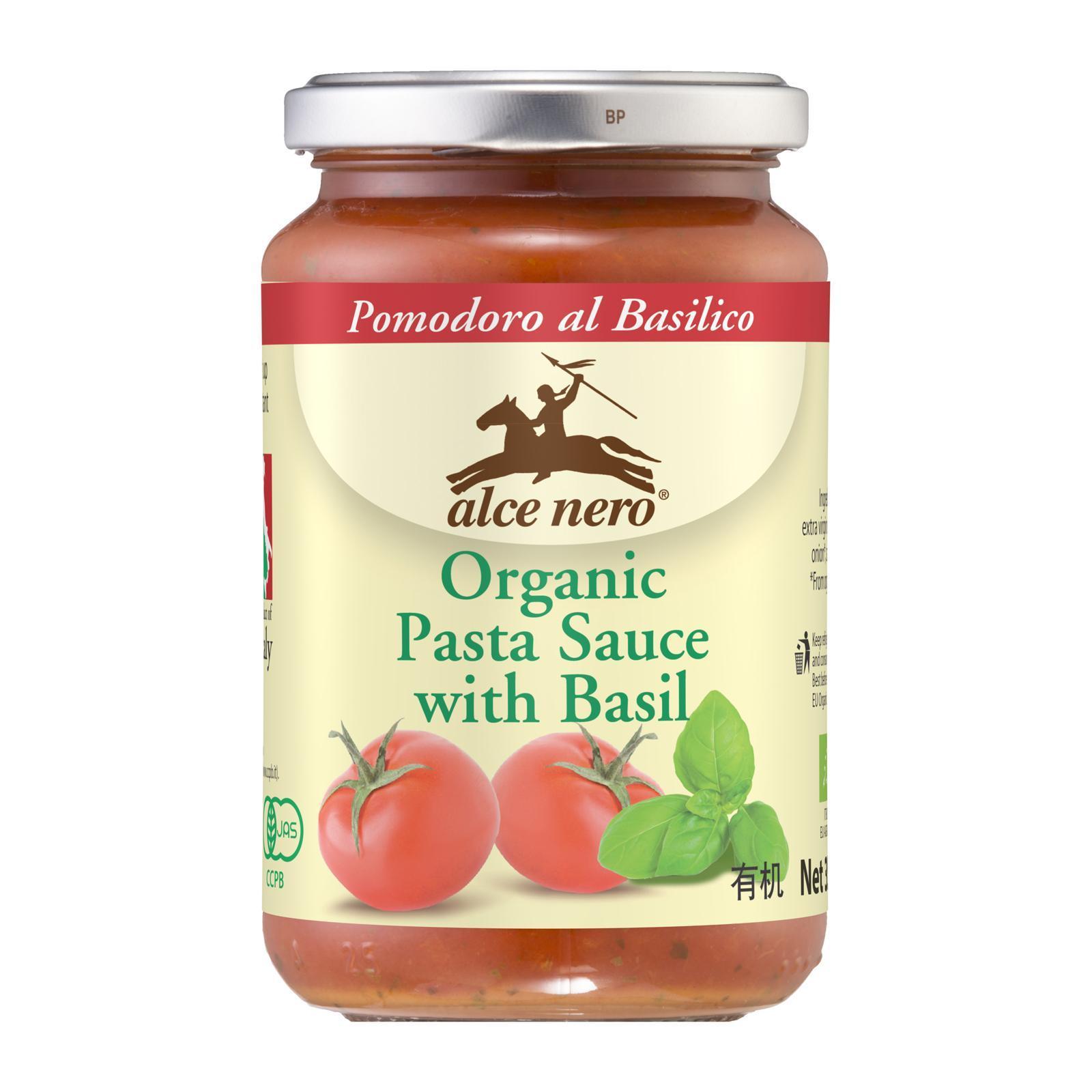 ALCE NERO Organic Pasta Sauce With Basil 350g