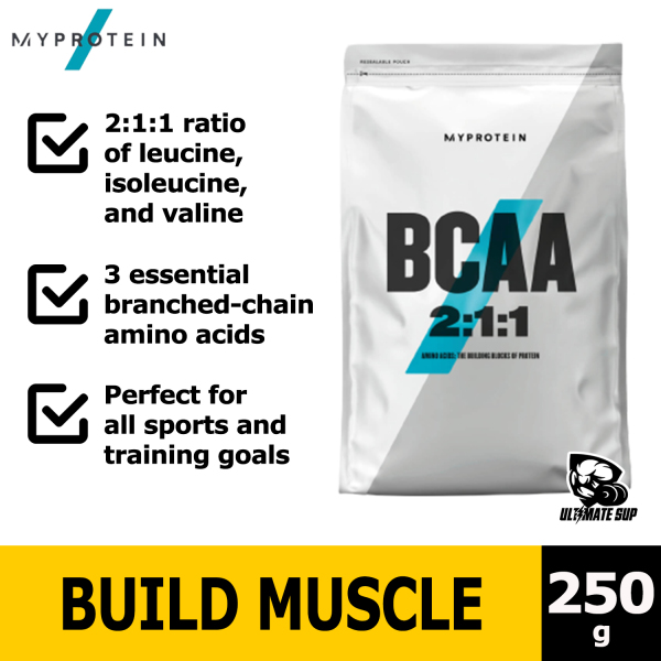 Buy Myprotein Essential BCAA 2:1:1 Powder   Gain muscle   Tone Up   250g Singapore