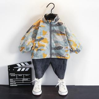 Cậu Bé Mùa Thu Áo Khoác Trẻ Con Vải Rằn Ri Áo Jacket 2020 Năm Mẫu Mới 1-3-5 Tuổi Trẻ Em 4 Bé Áo Gió Phong Cách Tây thủy Triều thumbnail