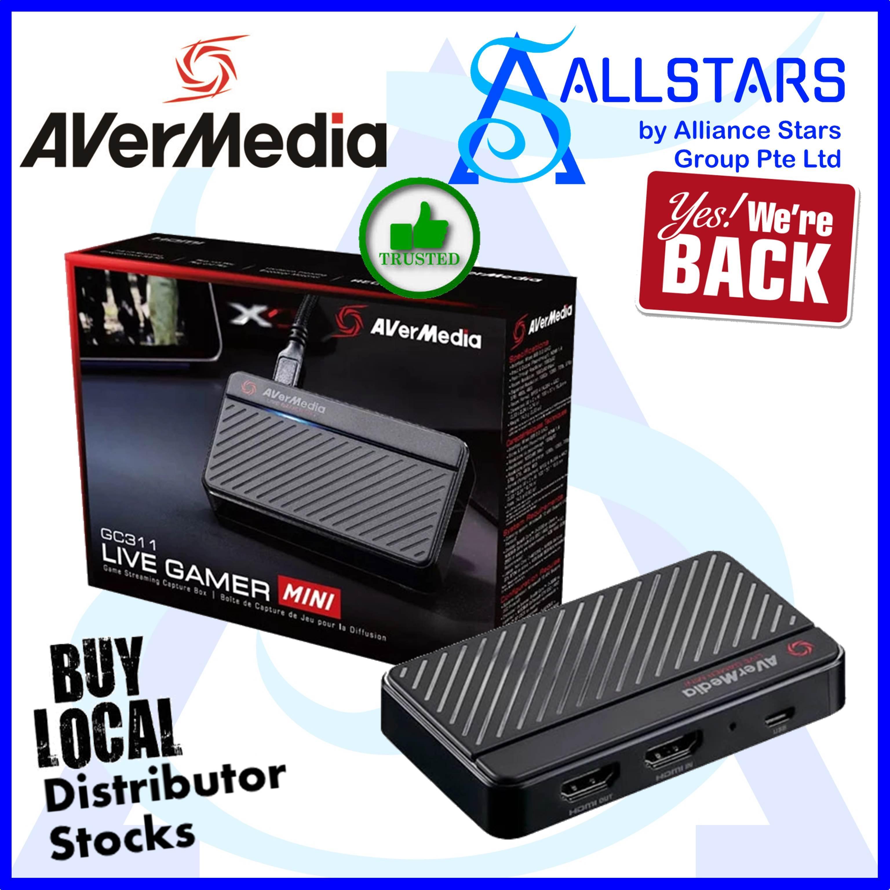 (ALLSTARS : We are Back PROMO) AVERMEDIA GC311 LIVE GAMER MINI Game Streaming Capture Box (Warranty 1year with Local Distributor Avertek)