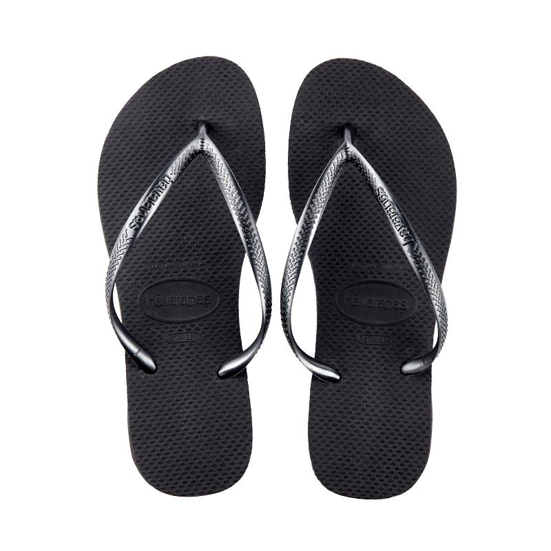 26934c63d Havaianas black gold slippers flip-flops. (Black)