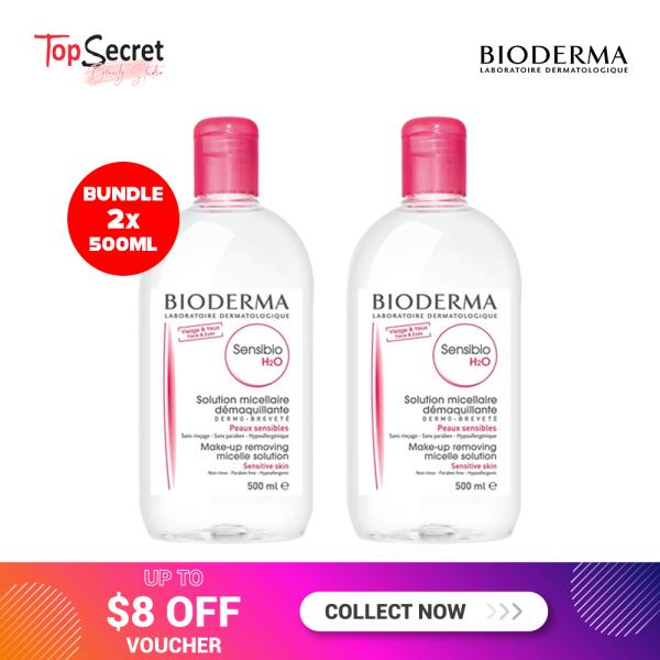 Buy Value Bundle Deal! 2 x Bioderma Sensibio Makeup Removing Micellar Water 500ml (For Sensitive Skin) Singapore
