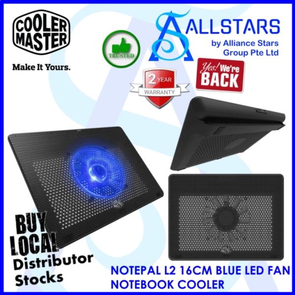 (ALLSTARS : We Are Back Promo) CM / COOLERMASTER / Cooler Master NOTEPAL L2 16CM BLUE LED FAN NOTEBOOK COOLER (MNW-SWTS-14FN-R1)-WRTY 2YRS W/BANLEONG