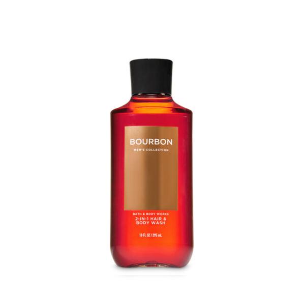 Buy Bath & Body Works : MENS COLLECTION : Bourbon 2-in-1 Hair and Body Wash - 295ml - Bath and Bodyworks - BBW Singapore