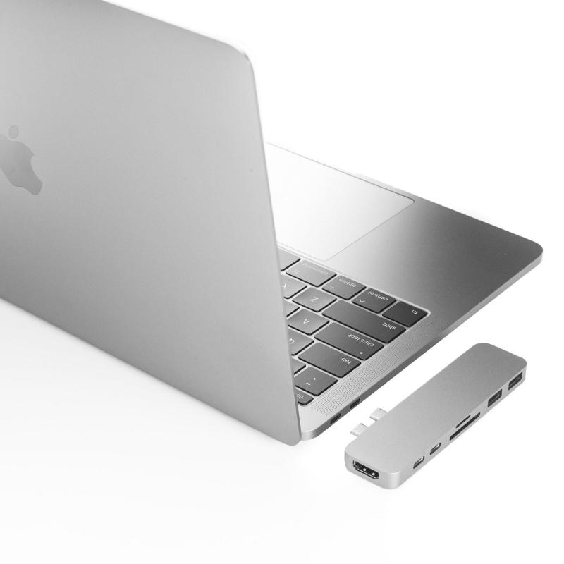 HyperDrive Duo 7-in-2 Hub Thunderbolt 3 USB-C MacBook Pro Air Sanho All Color USB C