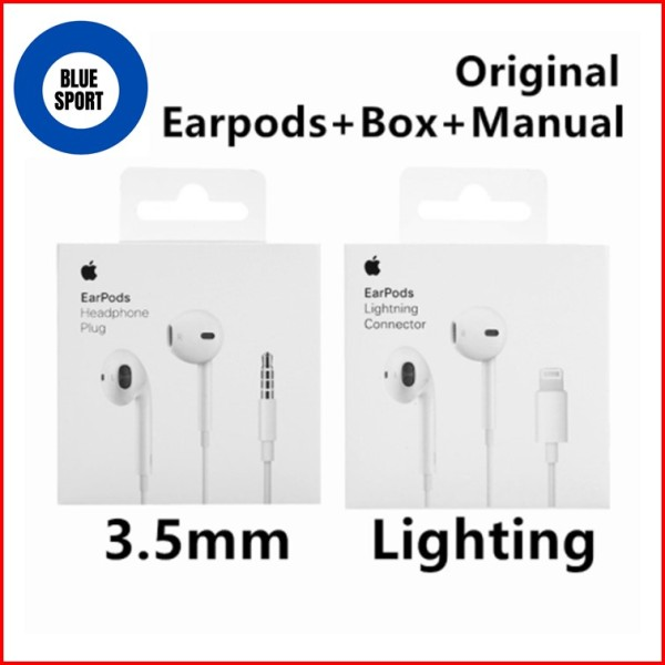 【100% Original 】Apple EarPods With 3.5mm Plug in-ear Stereo Bass Earphone For iPhone 6s 6 Plus 5 5s SE iPad With Microphone Singapore