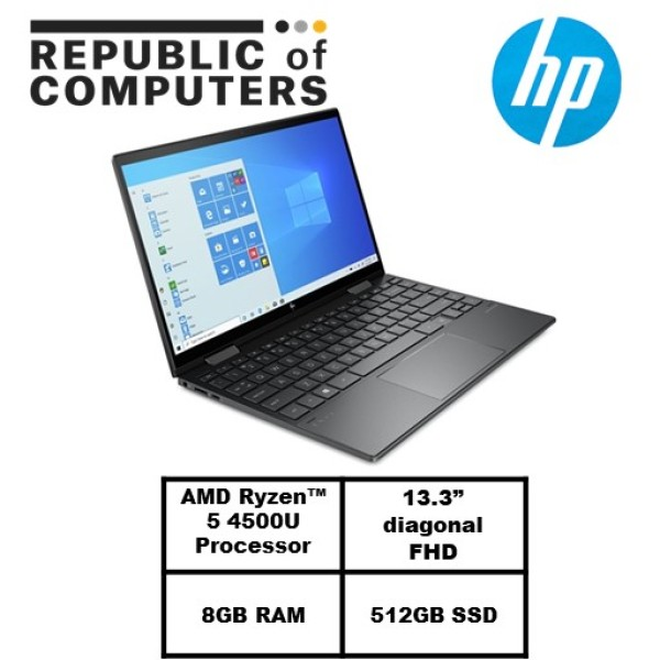 HP ENVY x360 Convert 13- /13.3 FHD Touch 100% sRGB/Ryzen5 4500U/8GB RAM/512GB SSD/Radeon Graphics/2 Yrs Warranty