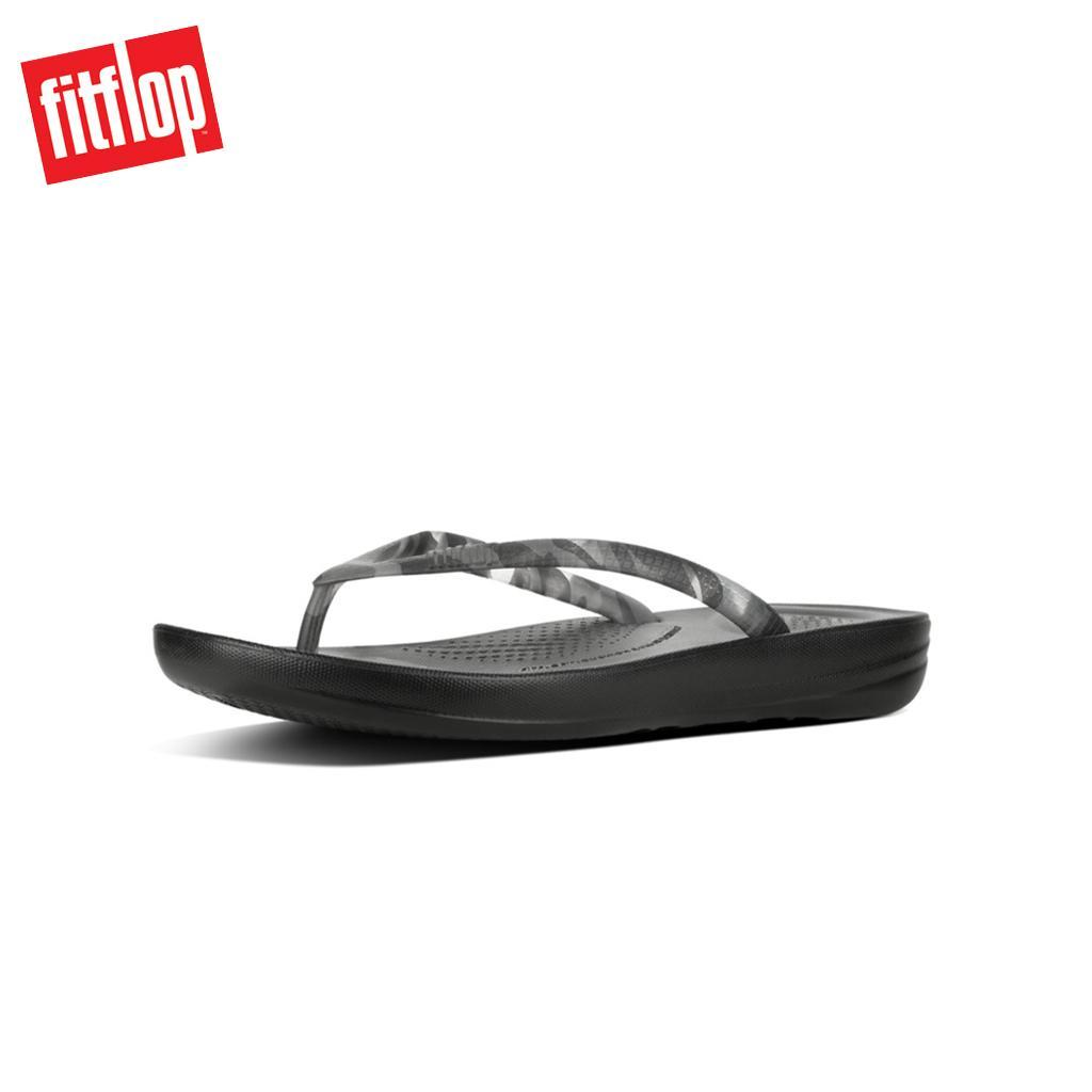 7d582392b Fitflop™ Iqushion Tortoiseshell Black Women Flip-Flop