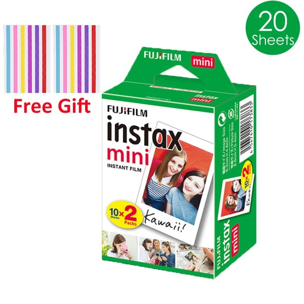 【Free Gift】20 Sheets Fujifilm Instax Mini Film Fuji Instant Camera Photo 7s 8 9 11 40 Liplay Link - Exp 01/2023 or later