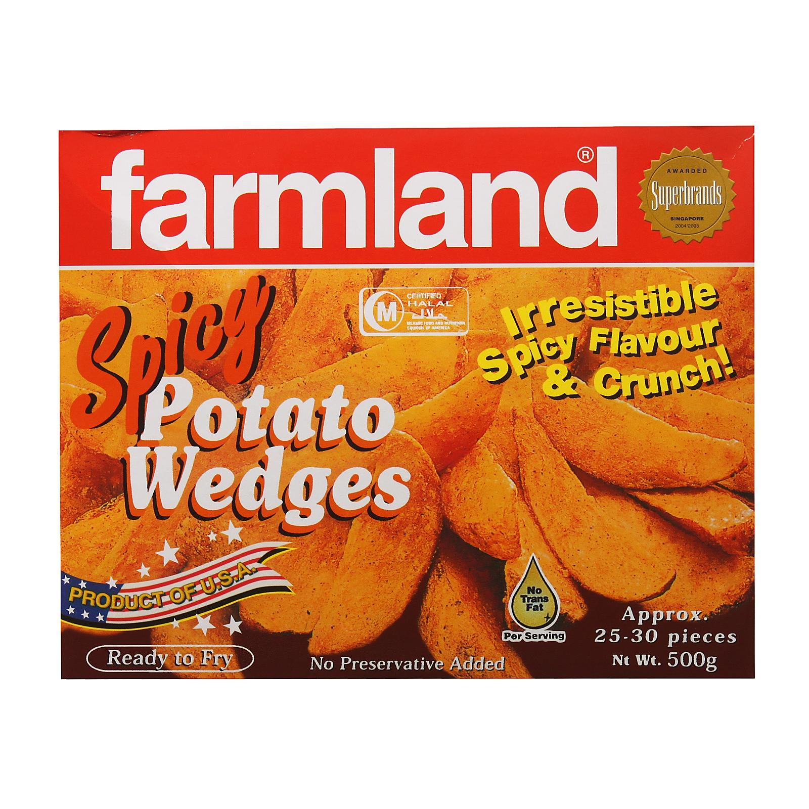 Farmland Spicy Potato Wedges - Frozen By Redmart.