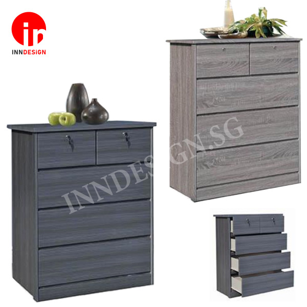 [Delivery Within 1-3 Days] Katherine New Series Chest of Drawers With Lock (Free Delivery and Installation)