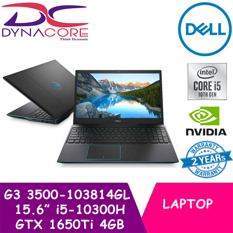 【CHAT TO GET 3% OFF】【DELIVERY IN 24 HOURS】 DYNACORE - DELL G3 3500-103814GL 15.6 INTEL CORE i5-10300H | 8GB | 1TB+256GB SSD | GTX 1650Ti 4GB | WIN 10