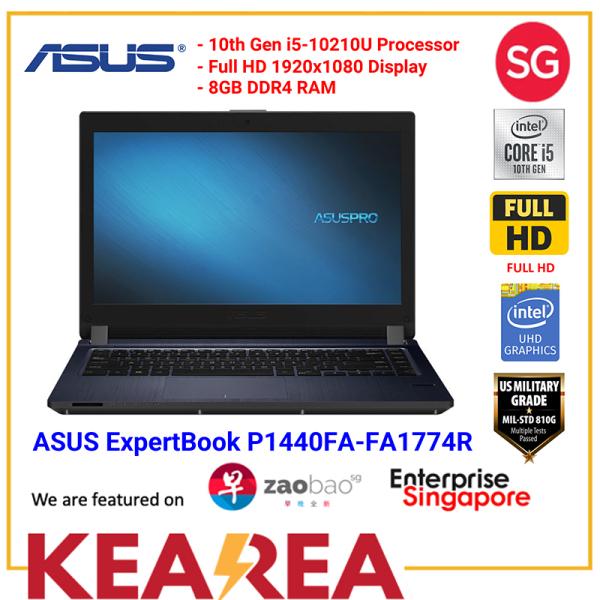 "ASUS ExpertBook P1440FA-FA1774R / i5-10210U / 8GB RAM / 512MB PCIE SSD / 14"" FHD / Wifi 6 / Win10 Pro / 3 Years local-onsite warranty"