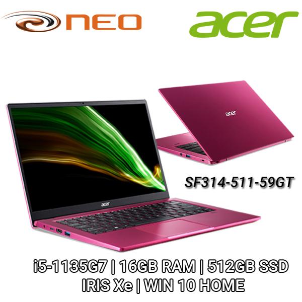 Acer Swift 3   SF314-511-59GT   i5-1135G7   16GB RAM   512GB SSD  IRIS Xe   WIN 10 HOME   2 Years Warranty