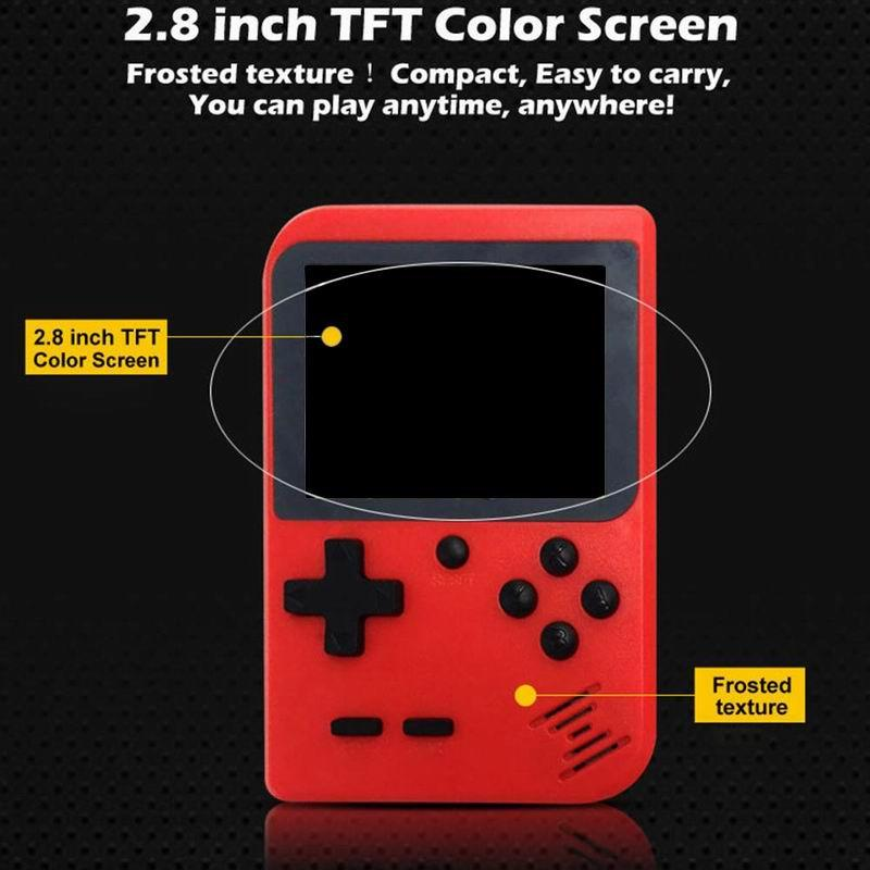 Retro Mini Handheld Game Player Console 400 in 1 Built-In Games Portable Gaming