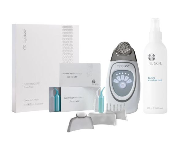 Buy ageLOC Galvanic Face Spa Pack (Best Beauty Device)[Package Content: ~ 1 x ageloc Galvanic Spa III (4 Conductors) ~ 2 x ageloc Galvanic Spa Facial Gels ~ 1 x ageloc  Galvanic Spa Powermask (5masks /box) ~ 1 x Napca Moisture Mist] Singapore