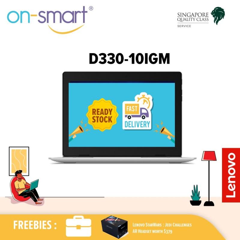 Lenovo D330-10IGM|Intel® Celeron N4000 Processor| 4GB DDR4 Ram|64GB EMMC|Intel Integrated Graphics|10.1 HD IPS (TOUCH) |Windows 10 Pro|1Yr Carry in Warranty|Free Jedi Challenge AR Headset