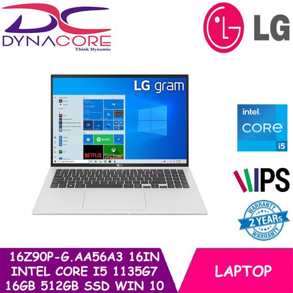 [Pre-order] DYNACORE - LG 16Z90P-G.AA56A3 16Inch | INTEL CORE I5 1135G7 | 16GB RAM | 512GB SSD | WIN 10 HOME