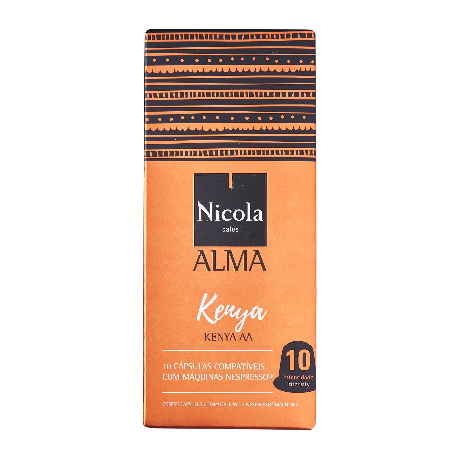 Nicola Cafes 10 Coffee Capsules Compatible For Nespresso Kenya