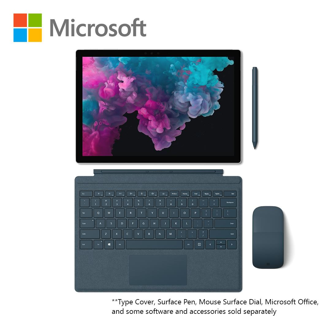 New Microsoft Surface Pro6 I5/8/128 Platinum By Microsoft Official Store.