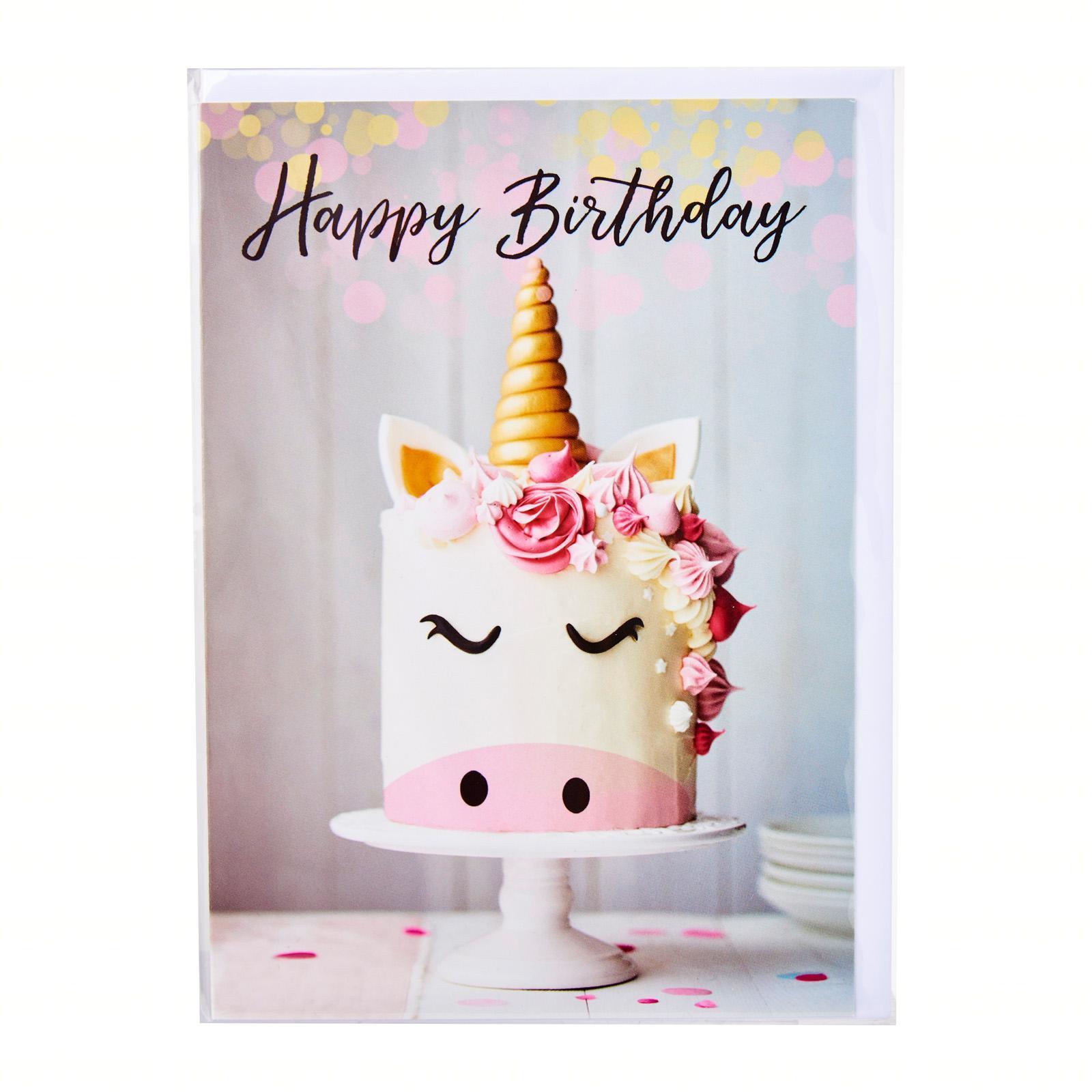 Affordable Cards Unicorn Cake - Happy Birthday