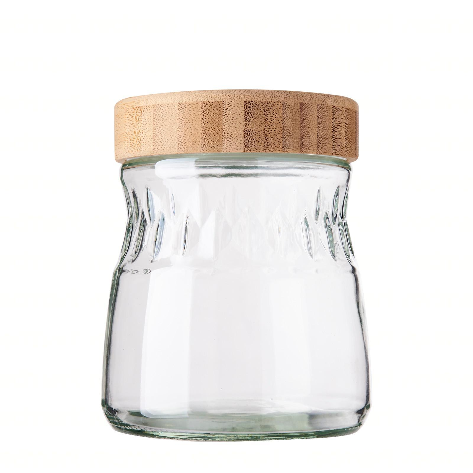 Elemental Kitchen Glass Storage Jar With Bamboo Lid -1000ML