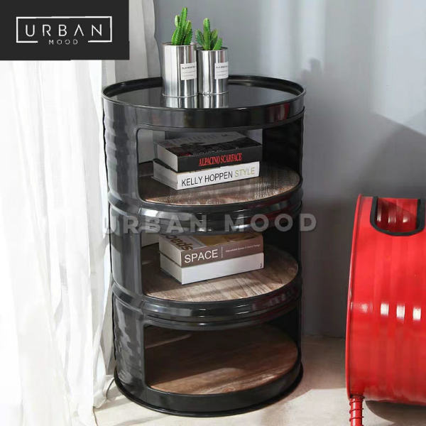 SHOT Industrial Metal Barrel Shelf