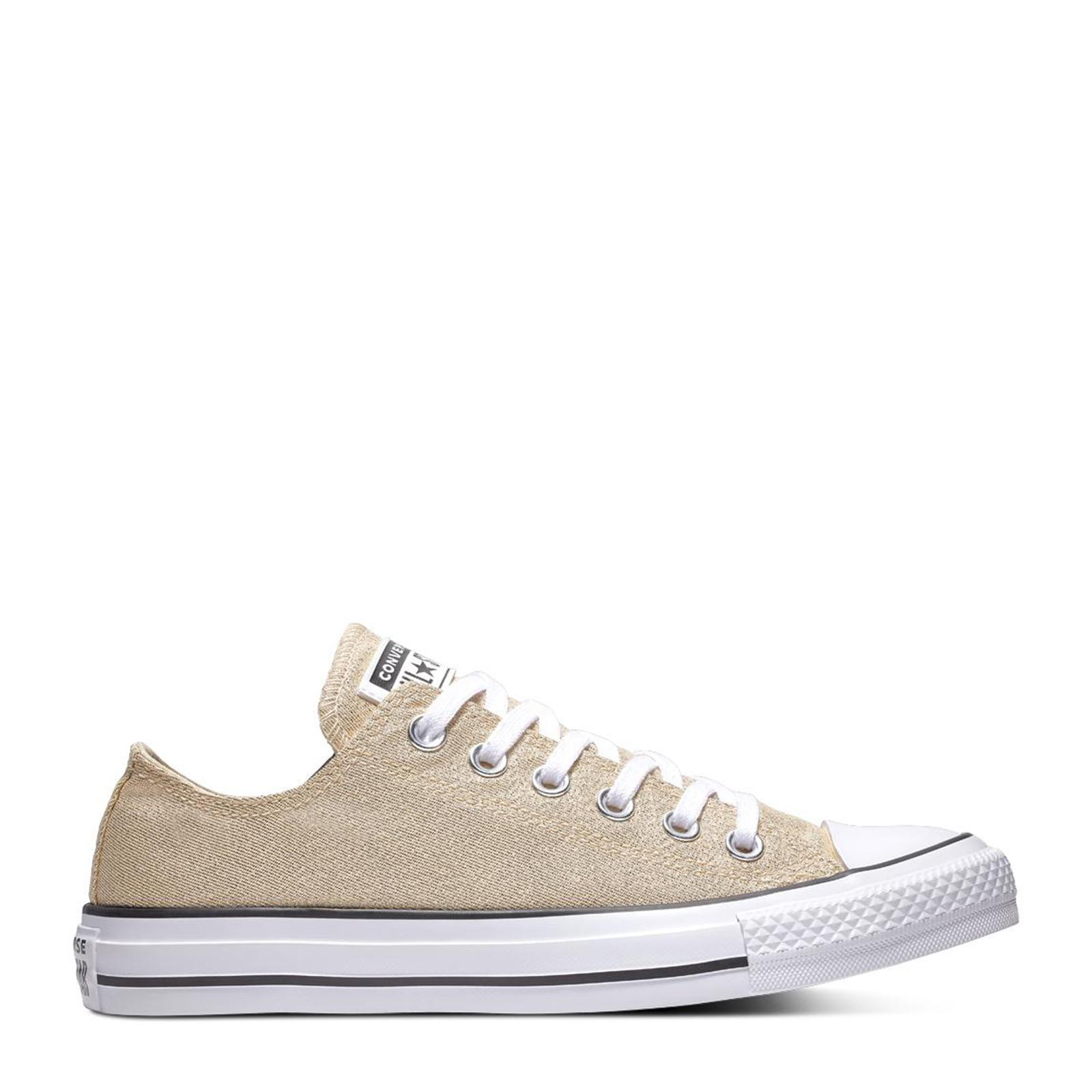 Converse Chuck Taylor Ox Particle BeigeParticle BeigeGold | Womens Pink Converse Chuck Taylor