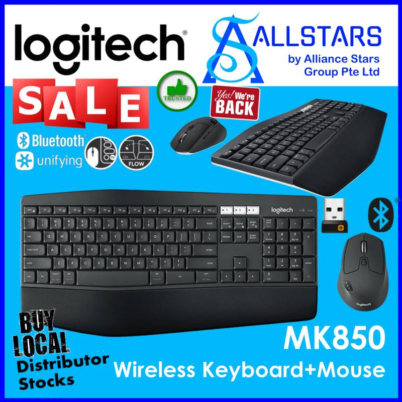 (ALLSTARS : We are Back / Keyboard and Mouse Promo) LOGITECH MK850 Performance Wireless Combo / Keyboard + Mouse (920-008233) (Warranty 1year with Local Distributor BanLeong) Singapore