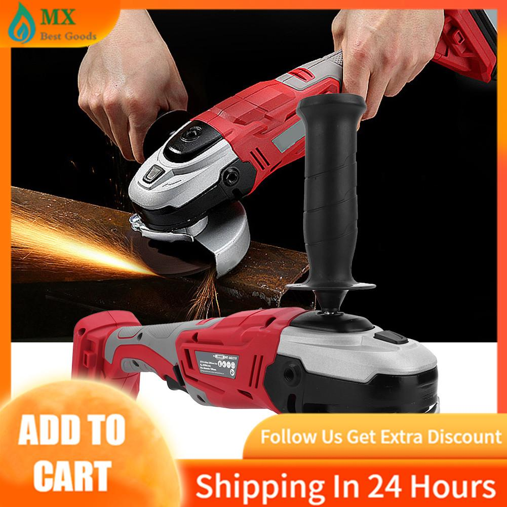 Cordless Li-lon Angle Grinder Handheld Household Grinding Machine with Wrench