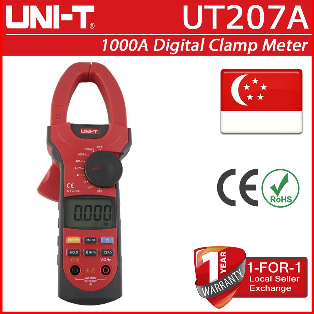 UT207A 1000A Digital Clamp Multimeter