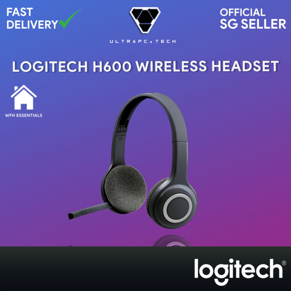 Logitech H600 Wireless Headset with Noise-Cancelling Mic 981-000504 (1Y) Singapore