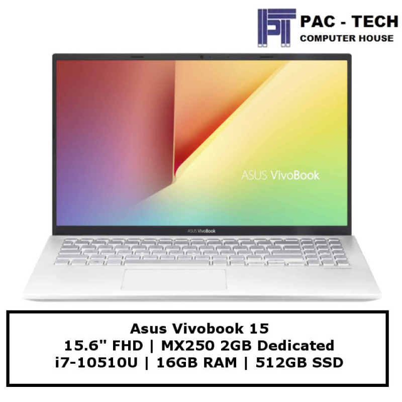 Asus Vivobook X512FL-EJ670T | i7-10510U | 16GB RAM | 512GB SSD | MX250 | 15.6 Full HD | 2 Year Warranty
